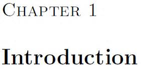 Thesis with latex